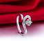 Anello-Fede-Fedina-Anelli-Fidanzamento-Cuore-Spezzato-Love-Solitario-Idea-Regalo miniatura 5