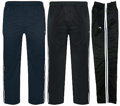 "MENS TRACKSUIT BOTTOMS TRACK PANTS ""2 STRIPE"" ZIP POCKETS BNWT"