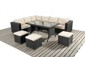 RATTAN-GARDEN-FURNITURE-SOFA-DINING-TABLE-SET-CONSERVATORY-OUTDOOR-PATIO-SET