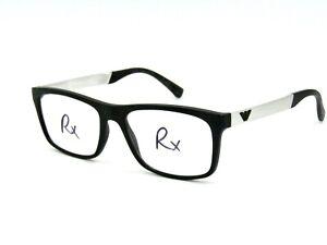 Emporio Armani Men's Eyeglasses Frame, Matte Black / Brush Silver 55-19-145 #27H