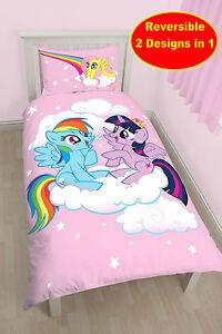 Copripiumino My Little Pony.Nuovo My Little Pony Equestria Singolo Trapunta Set Copripiumino
