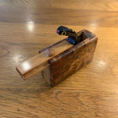 unique to Morocco Joke Prank  Fun Toy Jumping Snake Wooden Box  Burl Thuya