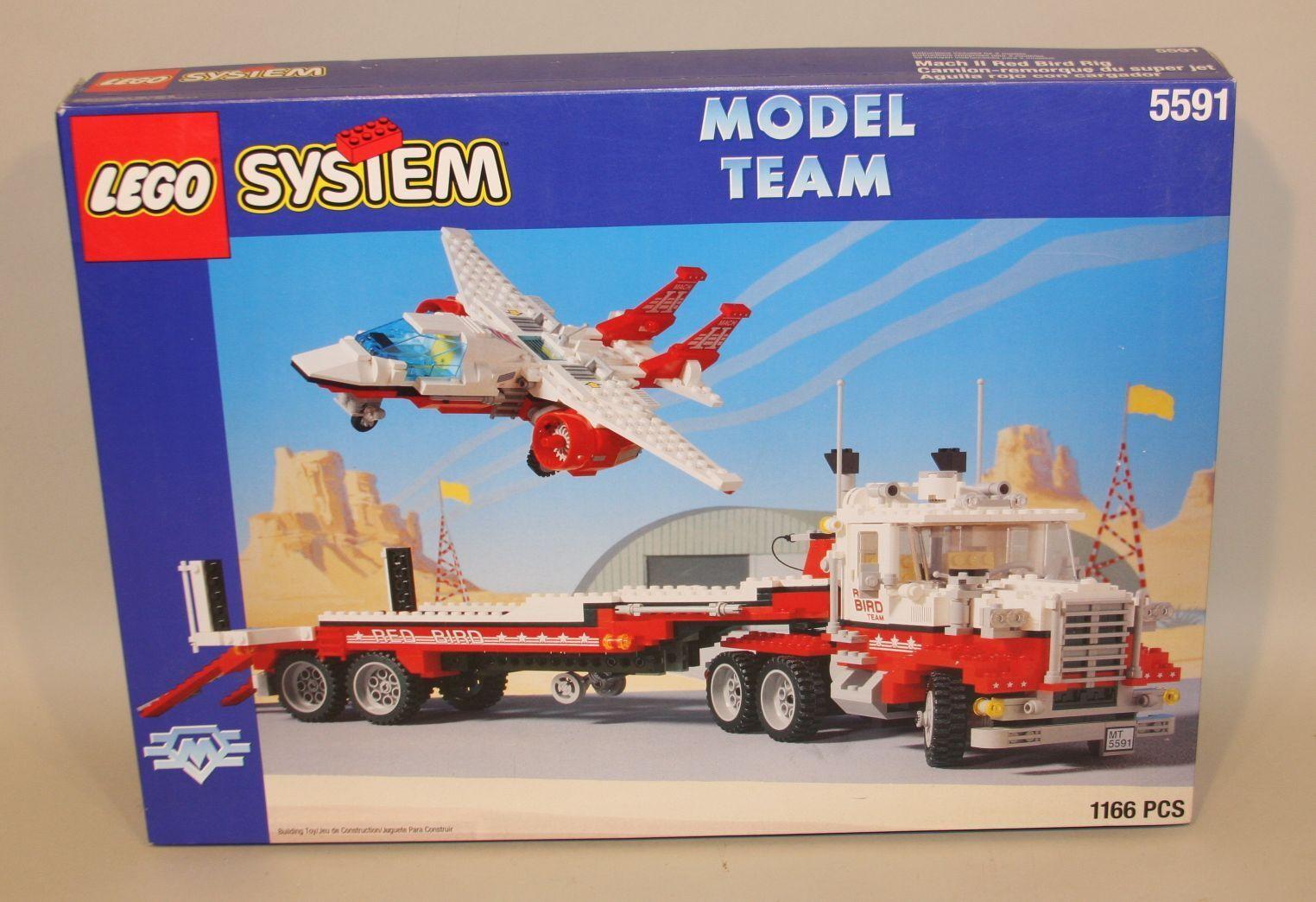 1994 Modelo Lego equipo Mach II Plataforma De Pájaro Rojo 5591 in (approx. 14201.14 cm) Caja con Instrucciones