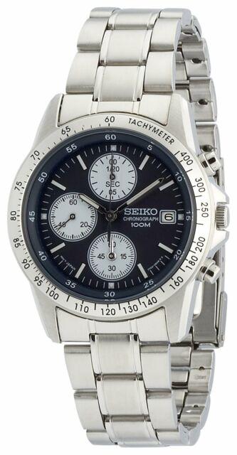 SEIKO Chronograph SND365PC Dark Blue  Men's Watch