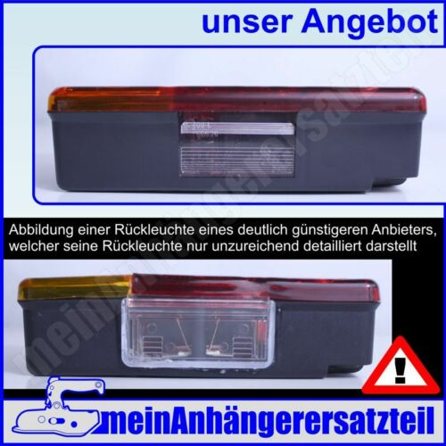 RADEX Dreikammerleuchte DDR Rückleuchte Rücklicht Anhängerleuchte ohne KZL 26