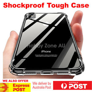 Shockproof-Tough-iPhone-Xs-Max-Xr-X-8-7-Plus-Hard-Gel-Clear-Case-Cover-for-Apple