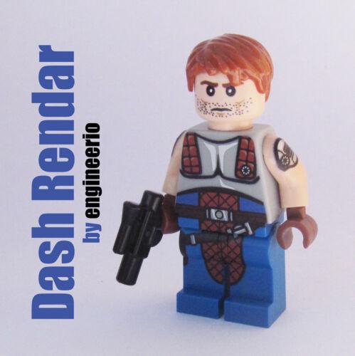 Custom Dash Rendar Star Wars Minifigures on lego bricks luke skywalker