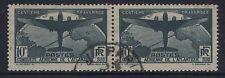 FRANCIA - 1936 S. AMERICA VOLO 10f COPPIA fine SG.554. USATO (REF.305)