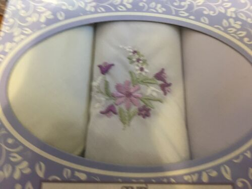 Ladies Handkerchiefs Hankies Pack Of 3 or Pk 6 Gift Idea