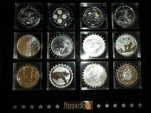 Fabulous-12-Coin-Collection-12-proof-Silver-coins-all-with-Certificates