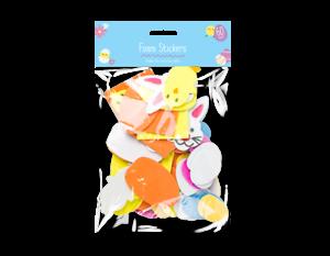 Pasqua Bambini decor Art /& Craft ADESIVI IN SCHIUMA DI PASQUA 60 Pack Uova, Conigli, Pulcini
