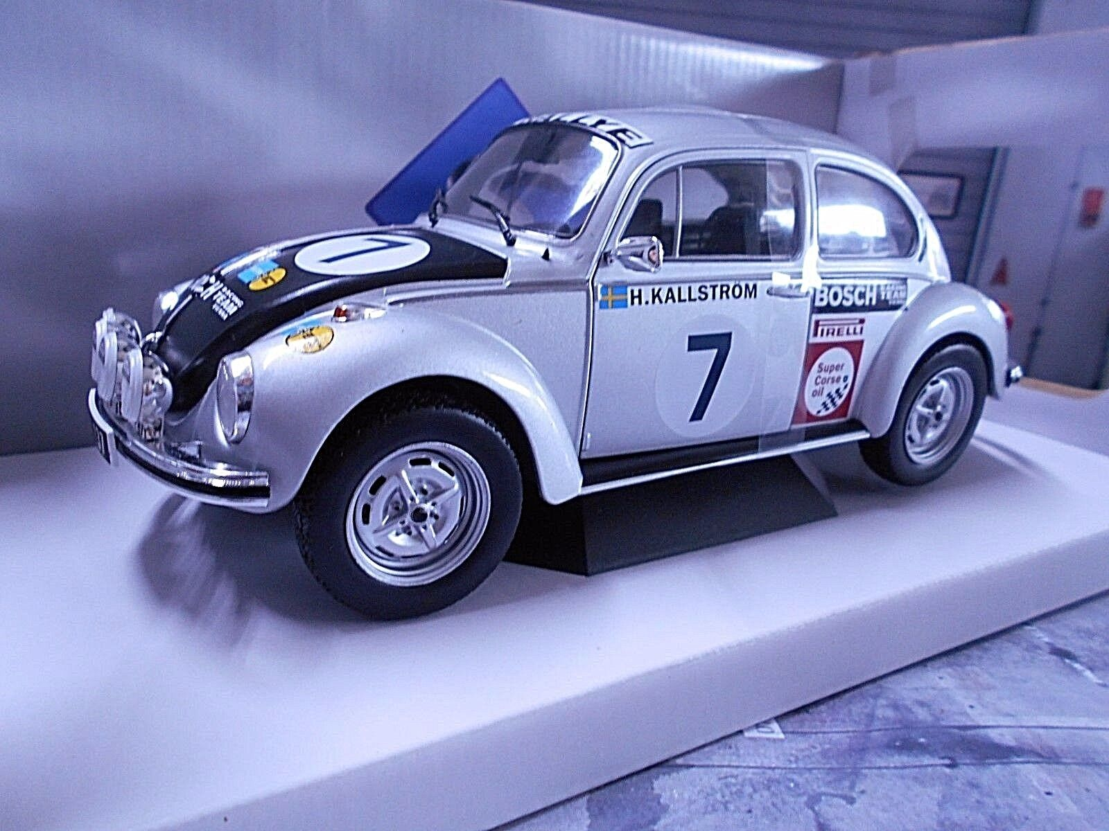 VW Maggiolino Volkswagen Beetle 1303 S RALLY Salzburg Kallström  7 1973 solido 1 18