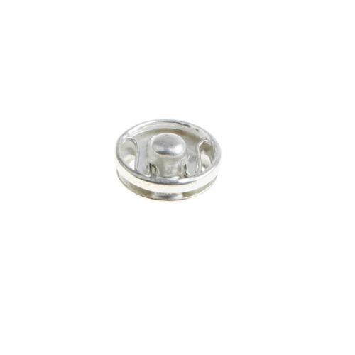 50 Paar Metall Annäh Druckknöpfe Druckknopf DIY Sewing Zubehör 12mm Weiß
