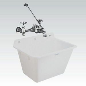Image Is Loading UTILITY SLOP SINK WALL MOUNT 12 Gallon Laundry