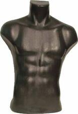 Male Torso Dress Form Mannequin Display Bust Black 5027