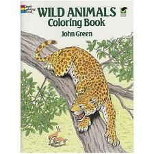 Coloring Books For Adults Kids Wild Animals Art Design Painting Stress -Relaxing