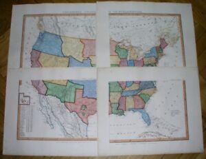 1856-RARE-ORIGINAL-MAP-UNITED-STATES-TEXAS-FLORIDA-CALIFORNIA-GEORGIA-NEW-YORK