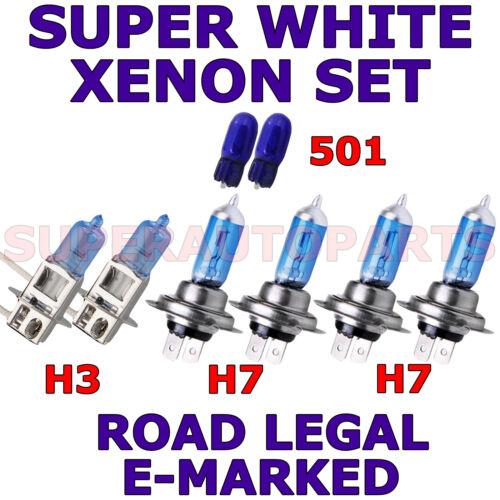 SET H3  H7  H7 501 SUPER WHITE XENON LIGHT BULBS FITS SAAB SPORT CONVERTIBLE 02