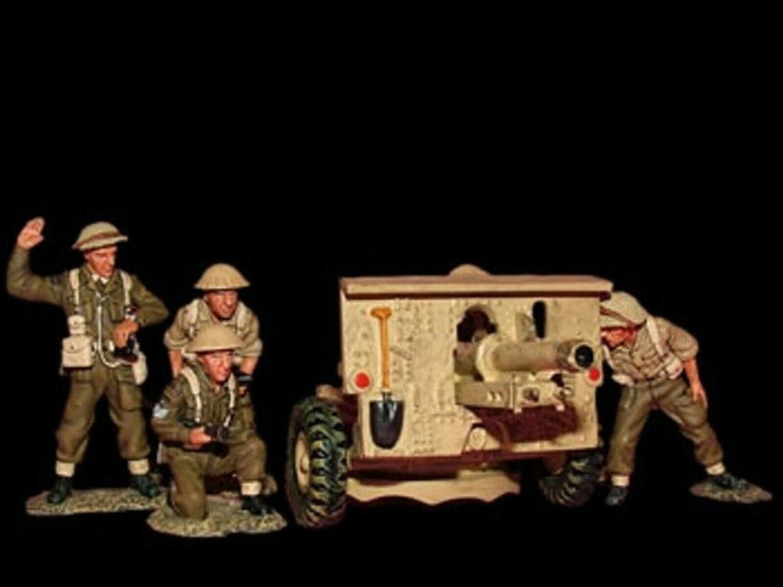 WOW EXTREMELY RARE King & Country EA004 8th Army 25lb Gun + 5 RA Crew BNIB