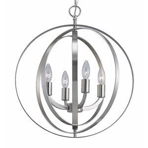 Modern 4 Light Globe Chandelier Orb Pendant Sphere Lamp Home Ceiling Lighting