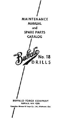 18 Drill Press Maintenance /& Spare Parts Manual  *271 Buffalo Forge No