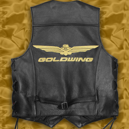 TKR/_Goldwing GL1800//1500 Motorcycle Rider/'s Leather Vest 42//52 size XXL