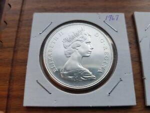 1967-Canada-Silver-One-dollar-Elizabeth-II