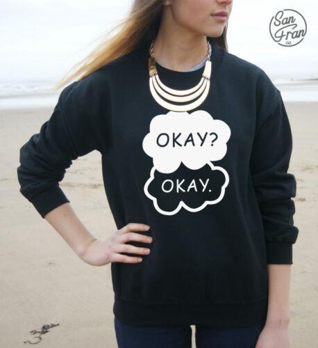* * Okay Okay Jumper Sweater Sweatshirt Top Tumblr The Fault In Our Stars Okay