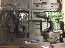 "Hitachi 18V 1/2"" Drill Driver W/ Accessories! Tested! Works!"