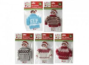 9dd2e3b77 Image is loading 1x-Christmas-Naughty-Elf-Deluxe-Christmas-Jumper-Knitted-