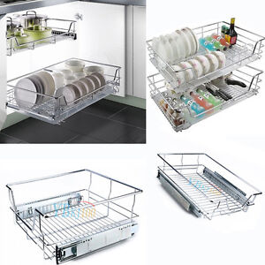 Pull Out Pantry Drawer Basket Wire Slide Roll Kitchen Storage Domestic AU POST 736691238612