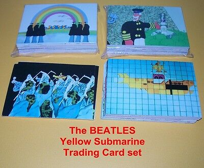 Yellow Submarine complete trading card set THE BEATLES
