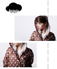 Japanese New Fashion girls/ lady's Raincoat with the  Dot Pockets Knee Length