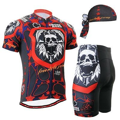 FIXGEAR CS-1102-SET Cycling Jersey & Shorts Padded, Bicycle Wear, MTB Road Bike