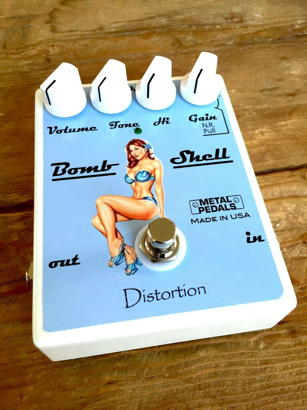 Bomb Shell Verzerrung Pedal overdrive Pedal Booster Pedal Hand verdrahtet OD Pedal