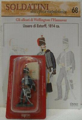 """Cordiale Soldatini Napoleonici In Piombo """"ussaro Di Estorff, 1814"""" Mm. 54 C/fascicolo"""