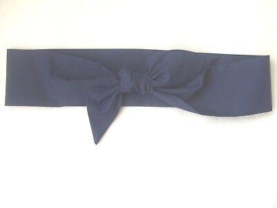 Ladies Hair Tie Head Scarf Oxford Blue Rockabilly Head Wrap Pin up Headband