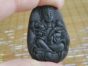 Jade-Noir-Veritable-Fine-Gravure-034-Bouddha-Kwan-Yin-034-Amulette-Pendentif-1074