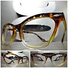 VINTAGE RETRO CAT EYE Style Clear Lens EYE GLASSES Tortoise & Transparent Frame