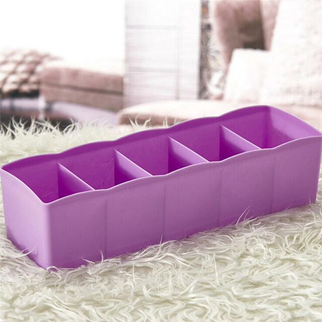 Closet Drawer Organizer Storage Divider Box Case Tie Bra Socks Cosmetic Utility