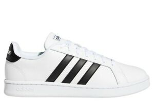 Chaussures Hommes adidas Grand Court F36392 Baskets Sport Gymnastique Cuir Blanc