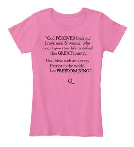 On-trend-Q-Anon-God-Forever-Bless-Our-Brave-Men-amp-Women-039-s-Premium-Tee-T-Shirt