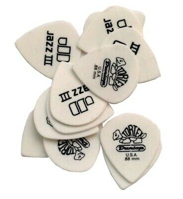 Dunlop Guitar Picks  12 Pack  Tortex Sharp  .88mm  412P.88