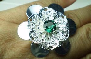 Anillo-Flor-Emerald-Swarovski