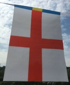 St-George-England-World-Cup-fabric-bunting-Posted-1st-class-today-Seconds