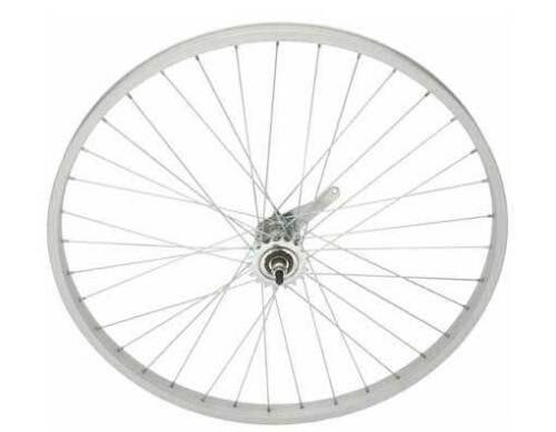 BICYCLE REAR WHEEL 26 X 1.75 ALLOY SILVER COASTER BRAKE BEACH CRUISER NEW!