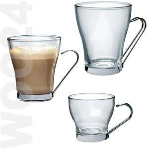 6 latte macchiato kaffee espresso tee gl ser kaffeegl ser teegl ser griff henkel ebay. Black Bedroom Furniture Sets. Home Design Ideas