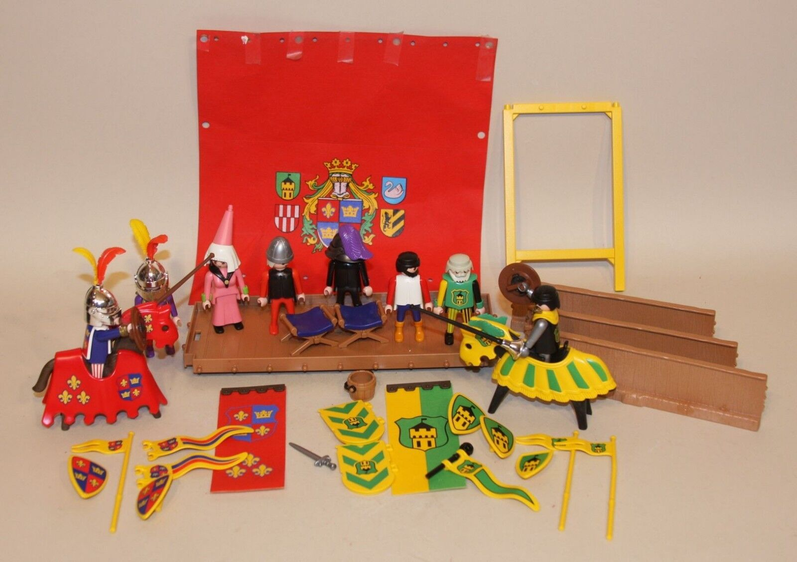 Playmobil Knights Sets Training Field Tournament Stand Tent King and His Court +