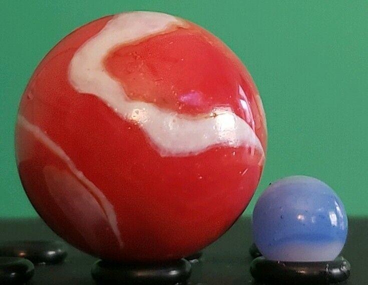 3 Medium Dimple Block Display Stand Cateye Earth Mega Marbles