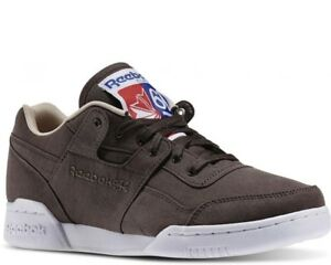 fa624c8ab4b617 Image is loading Reebok-Sneakers-Workout-Plus-Stone-Oatmeal-White-Size-